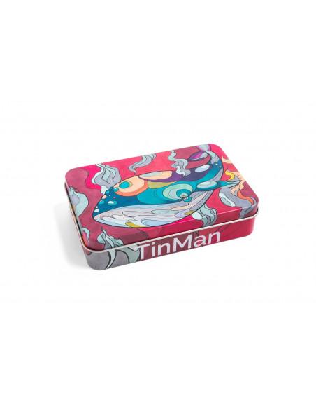 TINMAN WHALE - Wieloryb Pudełko schowek metalowy TIN CASE puszka