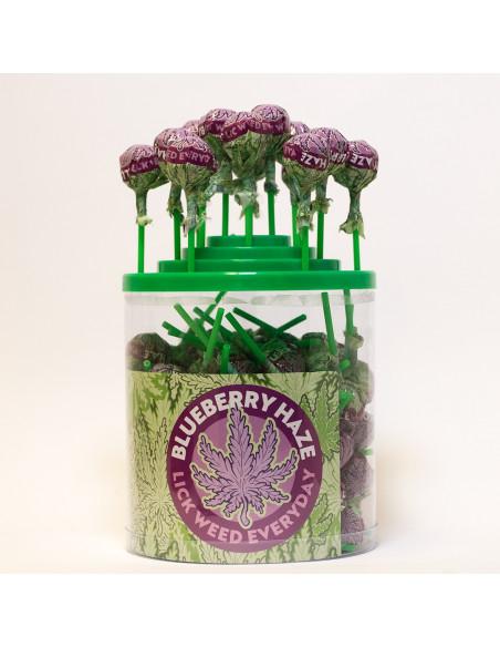Lizak konopny 14g BLUEBERRY HAZE LICK WEED CANNABIS LOLLIPOP