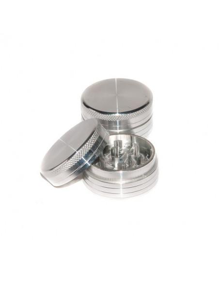 Młynek Grinder 2 częściowy aluminiowy 50mm kraszer silver
