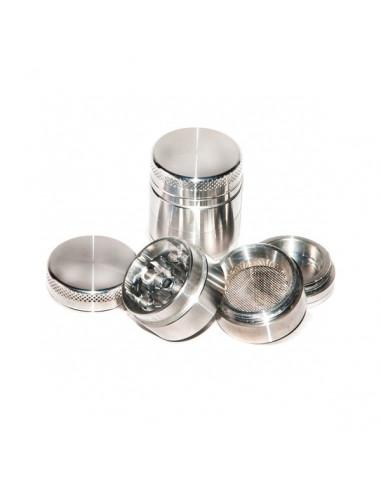SILVER Młynek Grinder Aluminiowy magnetyczny 4 częściowy 30mm