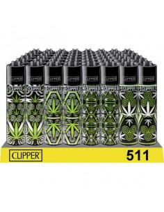 Clipper zapalniczka WEED PATTERN zioło 4 wzory
