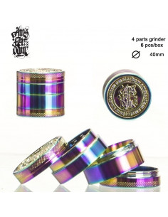 DOPE BROS Grinder Kraszer Młynek RAINBOW 4 częściowy 40mm z sitkiem