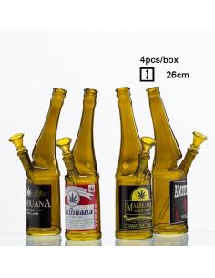 Bongo PIWO fajka wodna Beer Bottle 26cm szklane bongo