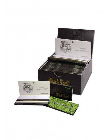 Black Leaf Hemp tissue papers with magnetic closure filters