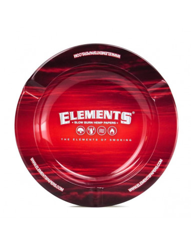 """Metal ashtray ELEMENTS RED 5.5 """""""