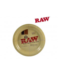 RAW metalowa tacka do zwijania jointów okrągła tacka do kręcenia