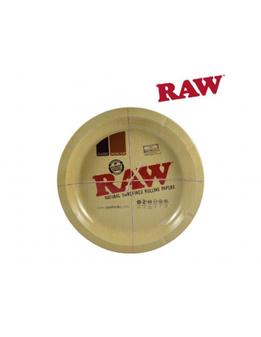 """RAW 12"""" metalowa tacka do zwijania jointów okrągła tacka do kręcenia"""
