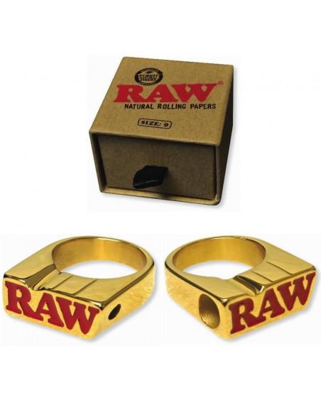 RAW SMOKERS RING - pierścionek sygnet RAW GOLD RING do jointa