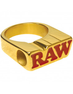 Obraz produktu: raw smokers ring - pierścionek sygnet raw gold ring do jointa