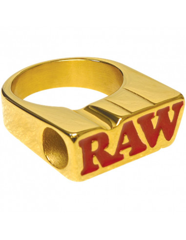 RAW SMOKERS RING - pierścionek sygnet RAW GOLD RING do jointa