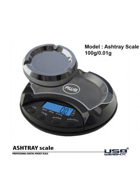 USA Waga Elektroniczna ASHTRAY jak popielniczka 0,01g 100g dyskretna