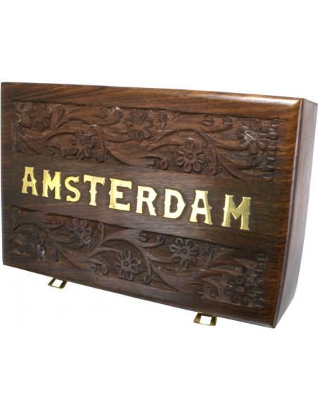 ROLL BOX AMSTERDAM 5 pudełko drewniane na akcesoria do palenia