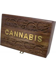 ROLL BOX CANNABIS 5 Pudełko drewniane na akcesoria do palenia