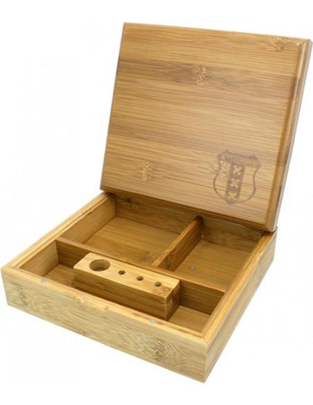 BAMBOO ROLLING BOX XXX pudełko bambusowe na jointy i bibułki schowek
