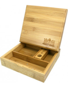 BAMBOO ROLLING BOX HERB pudełko bambusowe na jointy i bibułki schowek