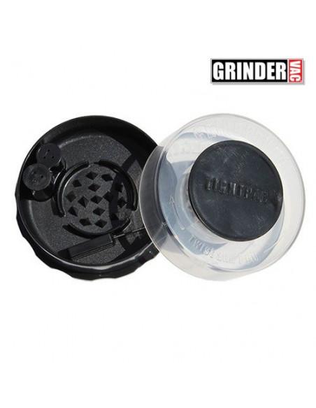 GRINDERVAC bezzapachowy grinder pojemnik młynek z schowkiem CLEAR