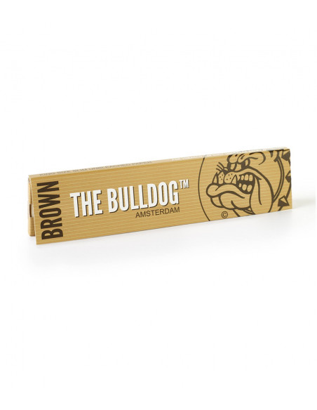 Bulldog king size slim Brown Eco bibułki brązowe unbleached AMSTERDAM