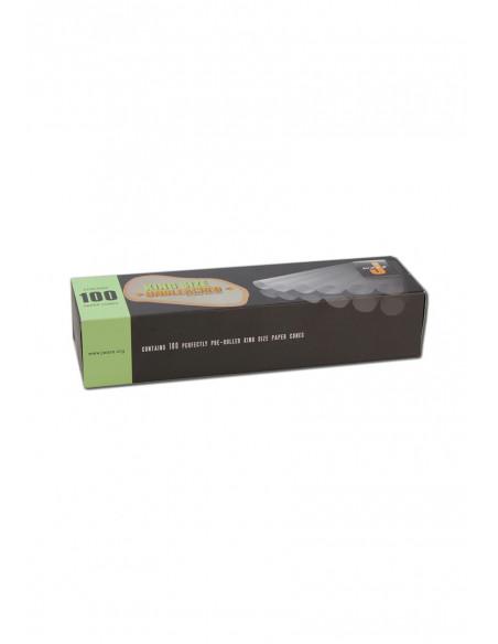 Jware Cones 100 gotowe skręcone brązowe bibułki king size slim