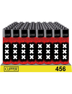 Clipper zapalniczka BLACK RED XXX AMSTERDAM