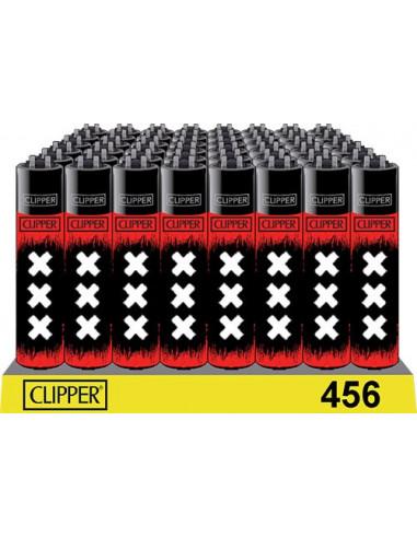 Clipper zapalniczka BLACK RED XXX AMSTERDAM