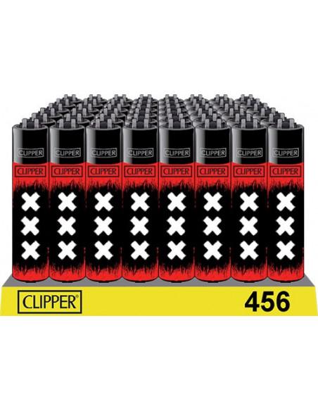 Zapalniczka Clipper wzór BLACK RED XXX AMSTERDAM