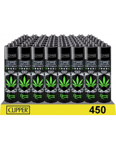 Clipper zapalniczka Amsterdam Black Leaf