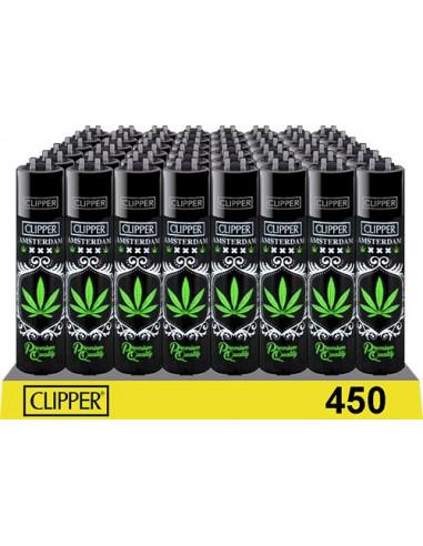 Clipper zapalniczka Amsterdam Black Leaf