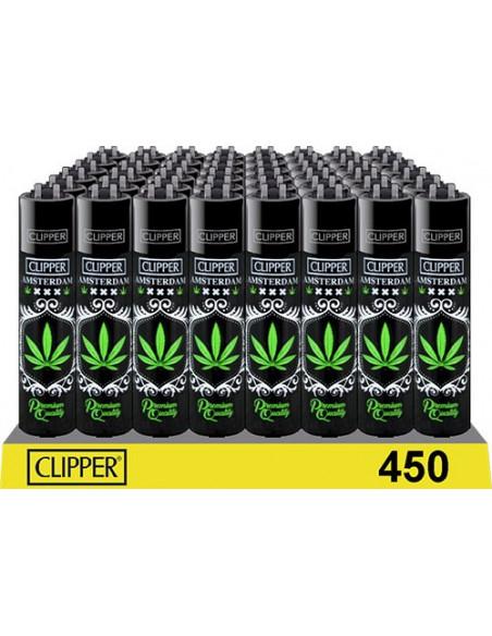 Clipper zapalniczka Amsterdam Black Leaf - czarny liść