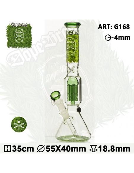Bongo Dope Bros X Amsterdam GRASS 35cm 6x dyfuzor 18.8mm fajka wodna