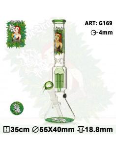 Obraz produktu: bongo dope bros x amsterdam grass 36cm 6x dyfuzor 18.8mm fajka wodna