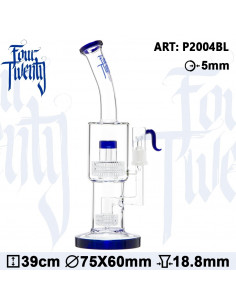 FOURTWENTY 420 FREEZING BLUE BONGO 36cm MATRIX percolator fajka wodna