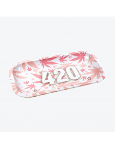 V-SYNDICATE 420 PINK Tray for rolling joints 27 x 16 cm