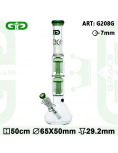 Grace Glass ice Bong 50cm 2x12 Perkolator Fajka wodna