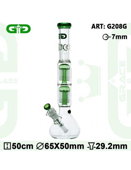 Grace Glass ice Bong 50cm 2x10 Perkolator Fajka wodna