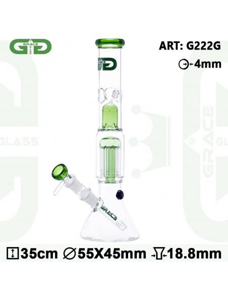 GG Bongo BEAKER G 35cm GRACE GLASS 8x dyfuzor 18.8mm fajka wodna