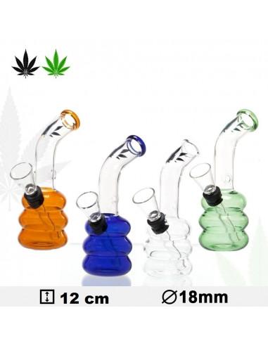 Bongo Glass Leaf 12 cm different colors