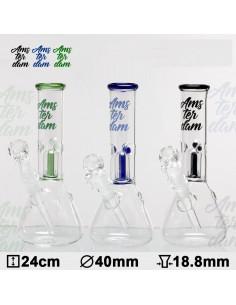 Bongo Glass Amsterdam with percolator, height 24 cm, cut 18.8 mm