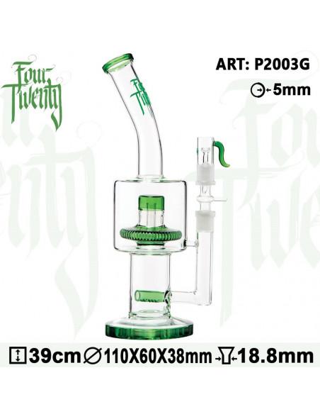 Bongo 420 Series Acid Dabs z perkolatorem wys. 39 cm szlif 18.8 mm