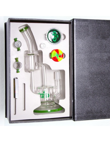 Bongo Grace Glass Double Barrel wys.26 cm szlif 18.8 mm