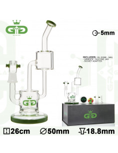 Bongo Grace Glass Double Barrel wys.26 cm szlif 18.8 mm