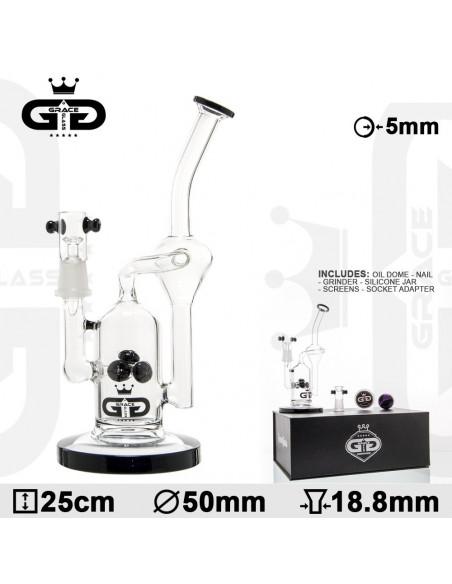 Bongo Grace Glass Watermill z perkolatorem wys. 26 cm szlif 18.8 mm