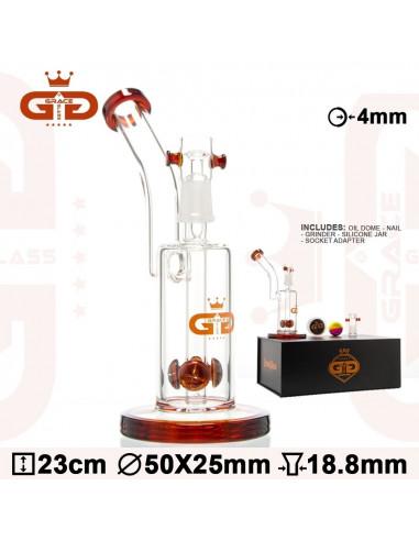 Bongo Grace Glass Nectar z perkolatorem wys. 23 cm szlif 18.8