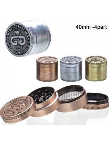 Metal Grace Glass 4-piece grinder
