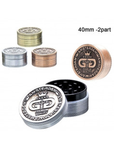 Młynek Grace Glass 2-częściowy metalowy śr. 40 mm