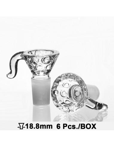 Zdobiony cybuch z rączką do bonga o szlifie 18.8 mm