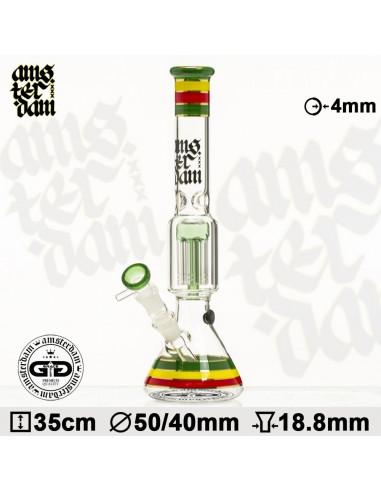 Bongo Grace Glass x Amsterdam v3 Rasta wys. 35 cm szlif 18.8 mm