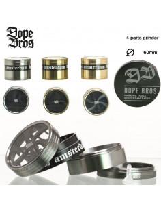 Dope Bros Grinder do ziół 4-częściowy śr. 60 mm