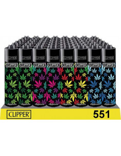 Zapalniczka Clipper wzór LEAVES