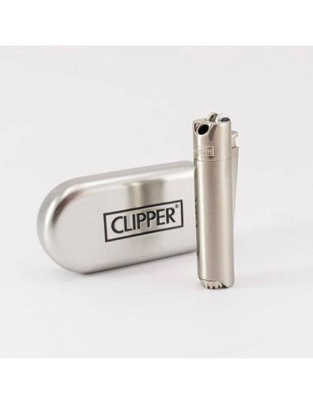 Zapalniczka Clipper Pipe Silver + Etui