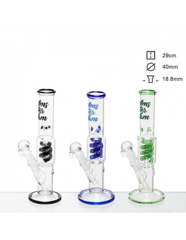 Bongo Glass Amsterdam ze spiralnym perkolatorem wys. 29 cm szlif 18.8